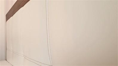 Postel MODENA dub drásaný - Biofa Nuss Braun - výplň čela pravá kůže bílá