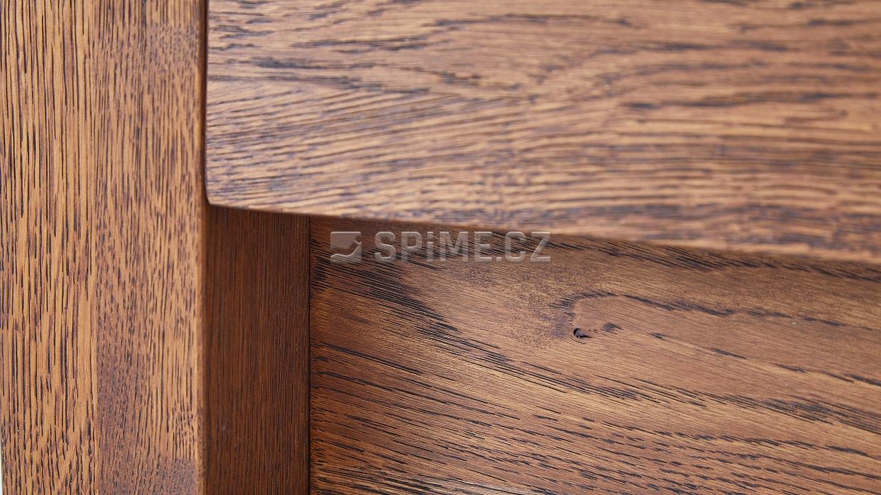 Dřevěná postel z masivu CAPRI dub drásaný