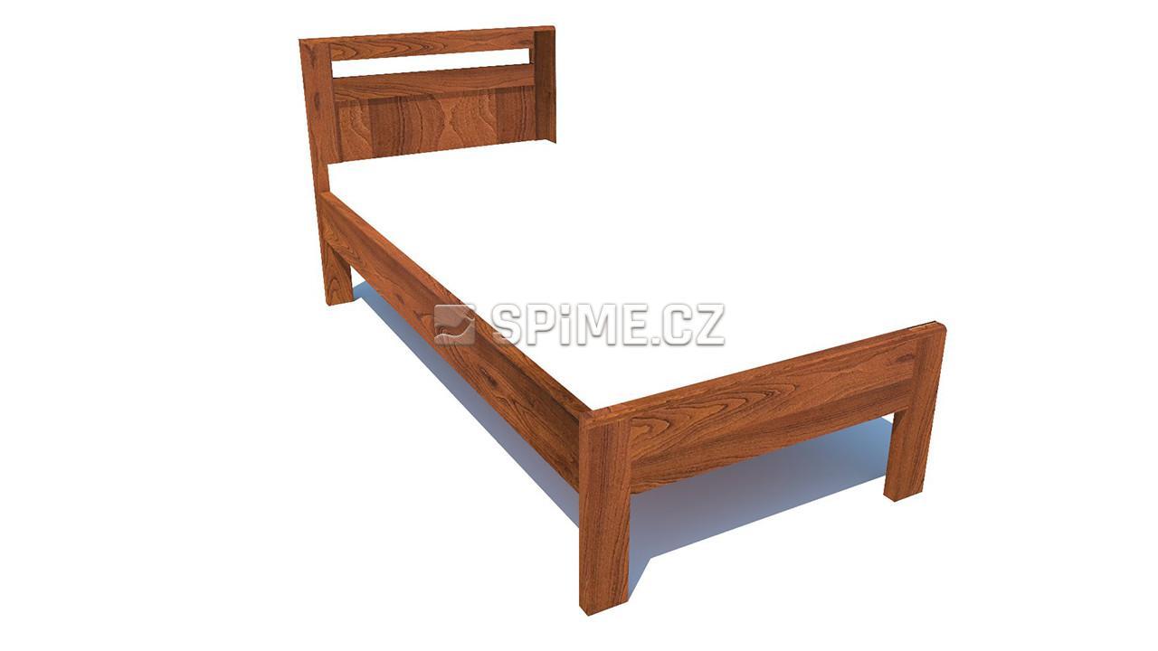 jednolůžková postel z bukového masivního dřeva Brener