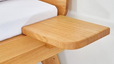 Dřevěná postel z masivu CORTINA, Materiál: Masiv Dub, Odstín: Olej Transparentní