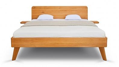 Dřevěná postel z masivu CORTINA, Materiál: Masiv Dub, Odstín: Olej Transparentní, čelní pohled