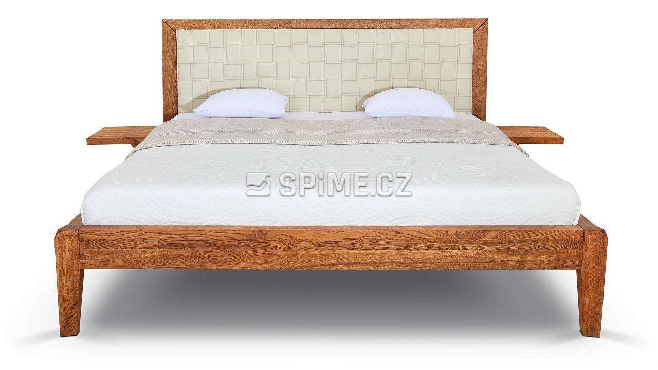 Dřevěná dvoulůžková postel z dubového masivu BERGAMO