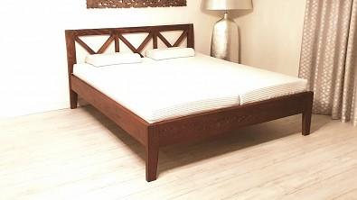 Dvoulůžková postel z masivního buku FIONA
