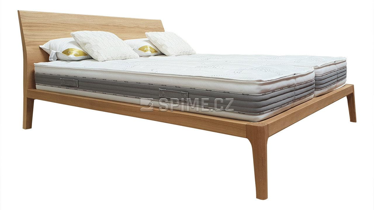 Designová postel z masivu GIULIA dvoulůžko Materiál: Masiv Dub, Odstín: Olej OSMO Transparent #05