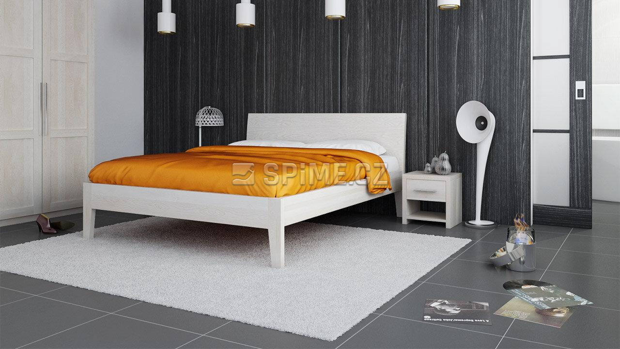 Postel z masivu IBIZA, Materiál: Masiv Buk, Odstín: Olej Nordic White #04