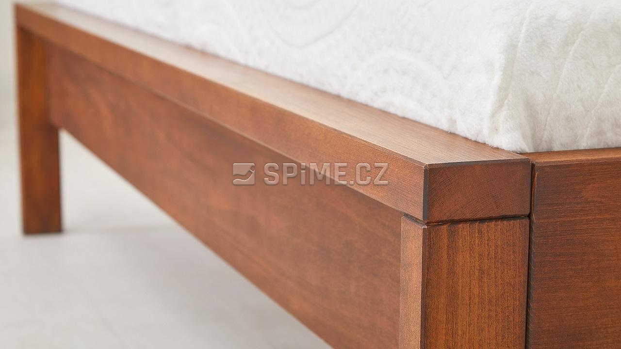 Postel z masivu MILANO buk, detail nožního čela