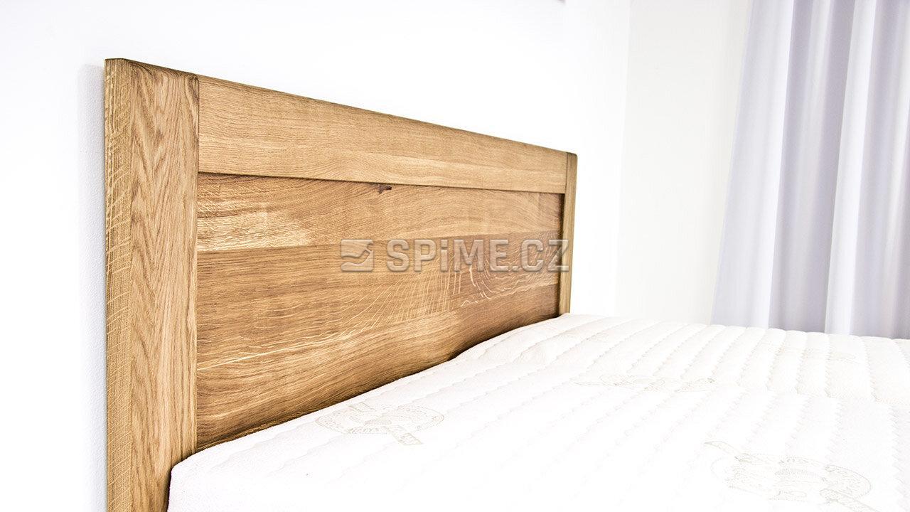 Postel z masivu s úložným prostorem ONTARIO, Materiál: Masiv Dub, Odstín: Olej BIOFA Transparent #03