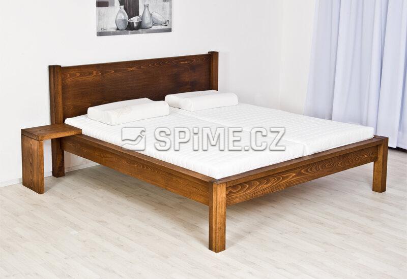 Dřevěná postel Vario buk - Moření Ořech + AU Lak