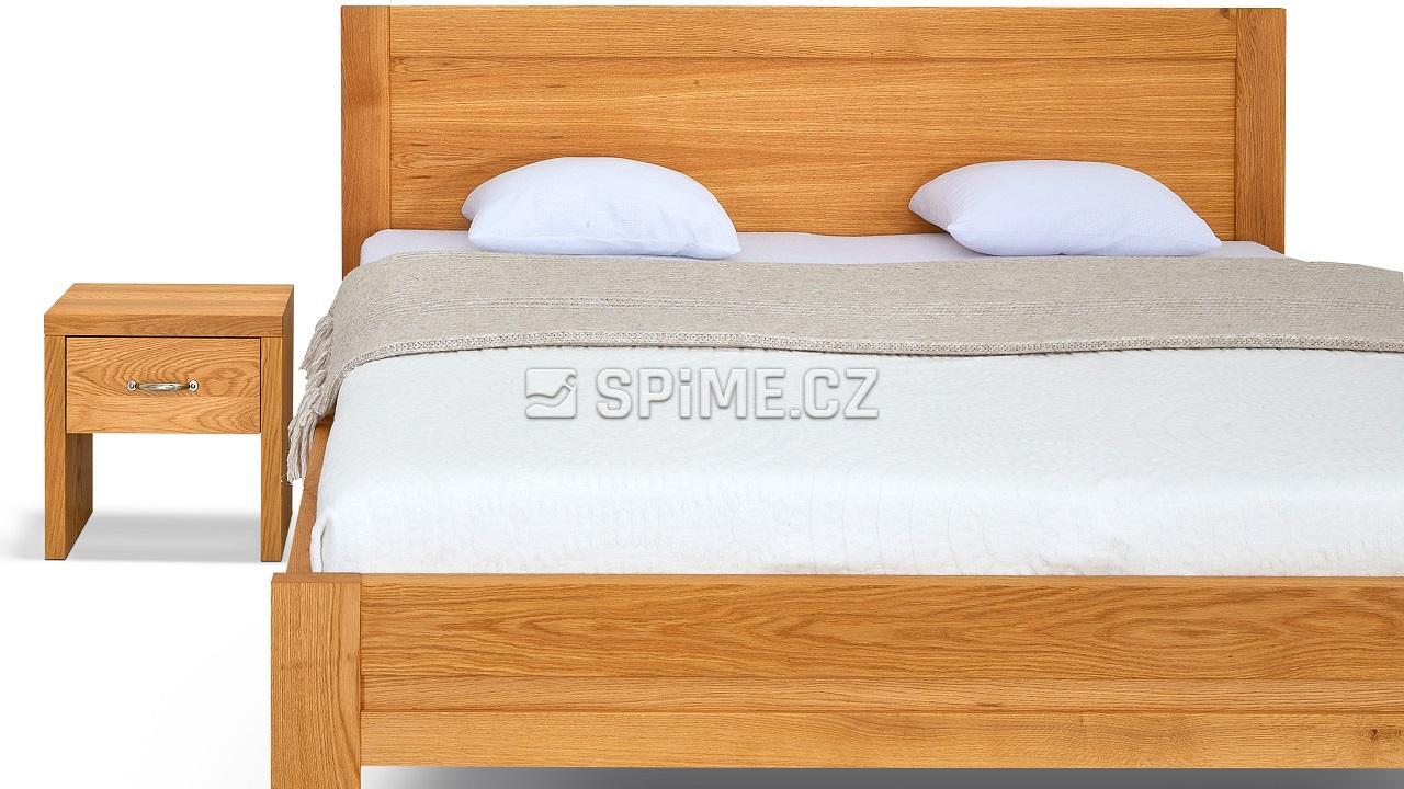 Dřevěná postel z masivu dub ESTER, detailní pohled