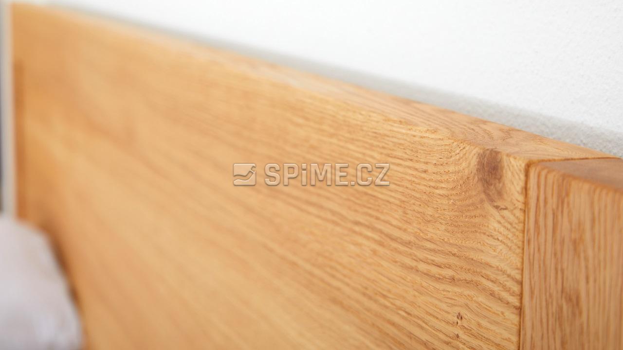 Dřevěná postel z masivu dub ESTER, hlavové čelo