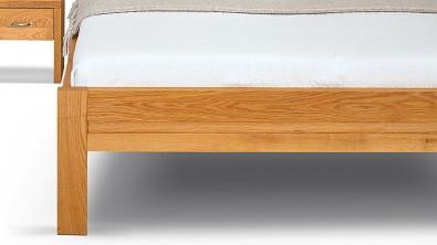 Dřevěná postel z masivu dub ESTER, nožní čelo