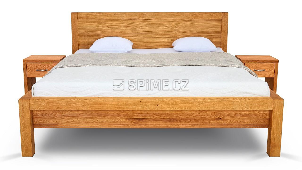 Dřevěná postel z masivu dub STONE