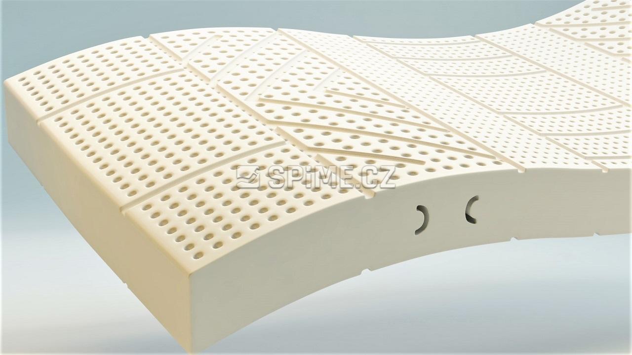 matrace ze 100% přírodního latexu multizone medium