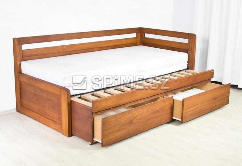 Rozkládací dřevěná postel
