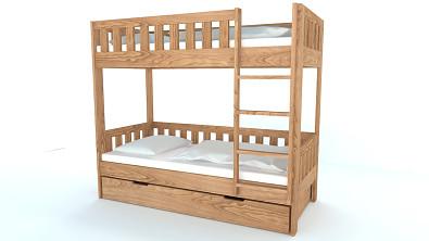 Patrová postel z masivu CHILD Buk