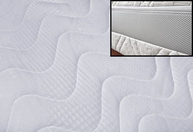 Potah na matraci CHARLOTTE prošitý + 3D MŘÍŽKA