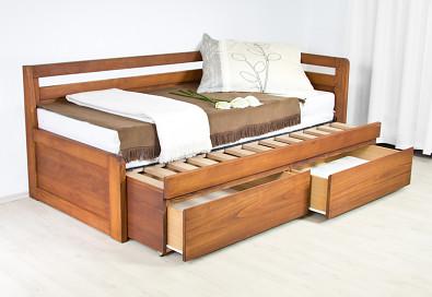 Rozkládací postel z masivu SOFA DUO - L