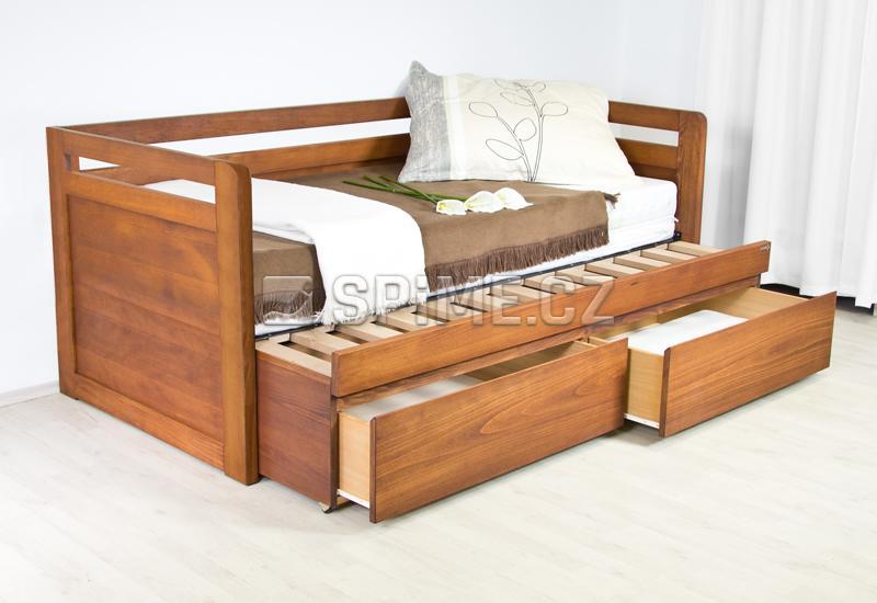 Rozkládací postel z masivu SOFA DUO-U