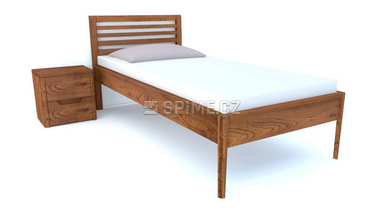 Jednolůžková postel z masivu TENNO