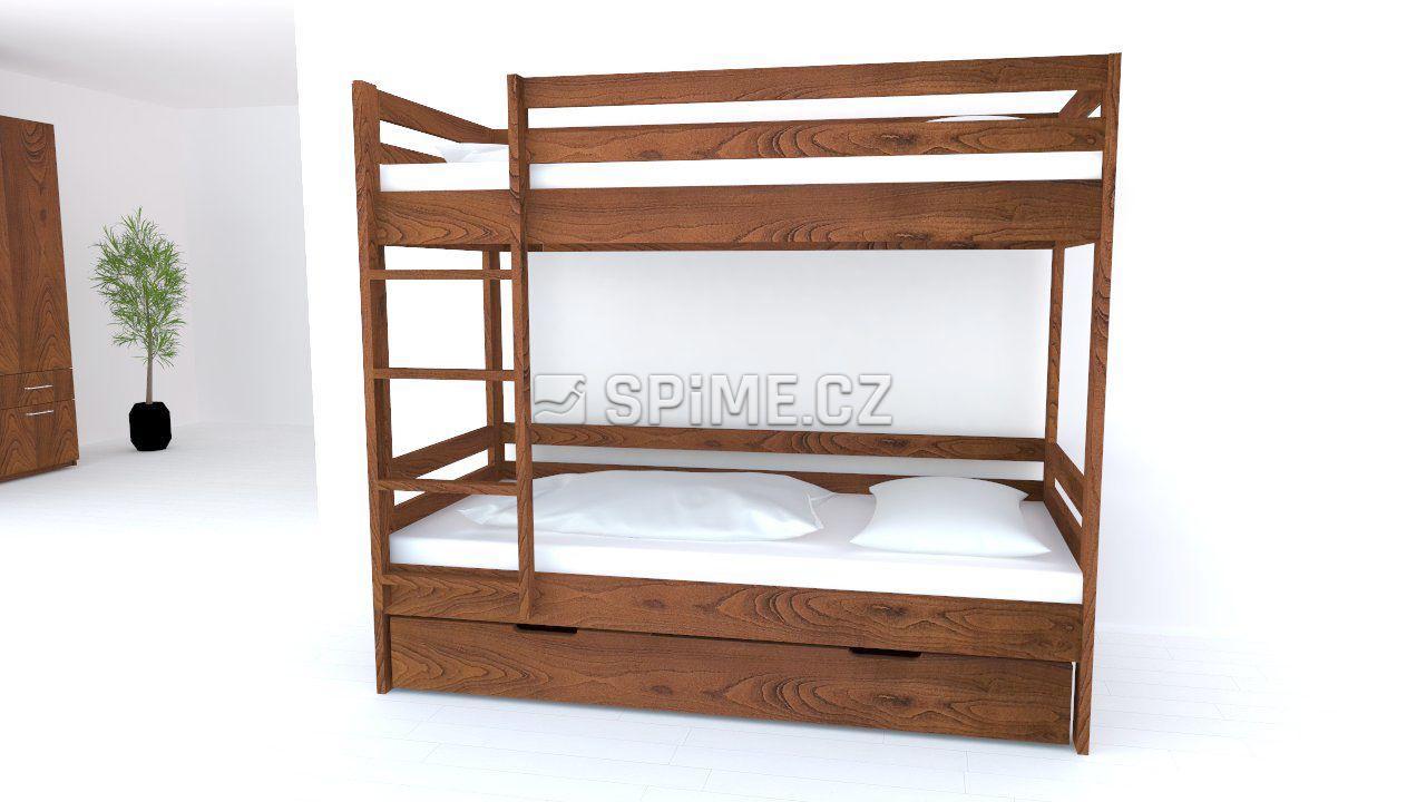 Patrová postel z masivu KIDS Buk